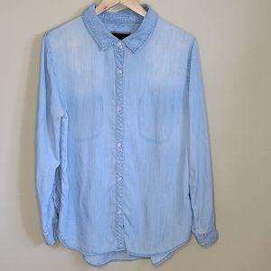 Rails Chambray Button Down Shirt Size Large